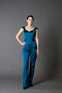 Formal Fitted Satin Jumpsuit