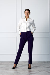 High waist cigarette women pants