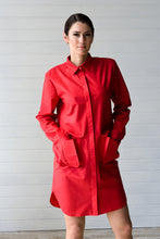 Load image into Gallery viewer, Oversized cotton shirtdress with large pockets
