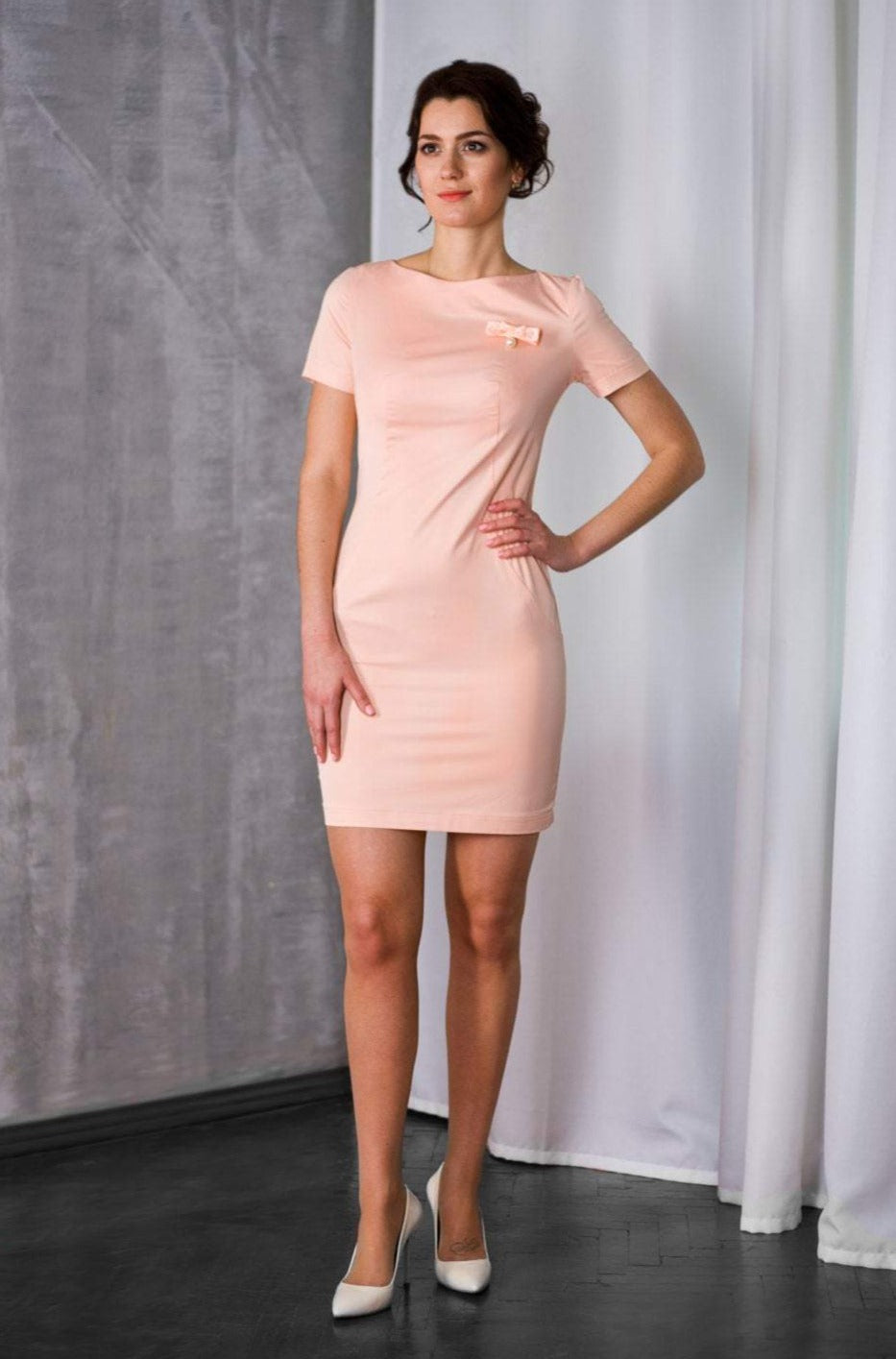Pink mini pencil dress