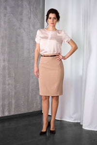 Biege Pencil Skirt