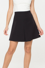 High Waisted A Line Mini Black Skirt
