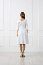 Load image into Gallery viewer, White Asymmetrical Cotton Dress