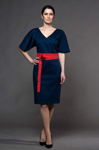Navy blue kimono dress women