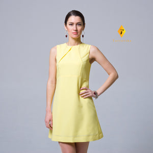 Yellow a-line mini dress