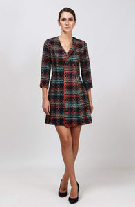 Plaid mini dress jacket women