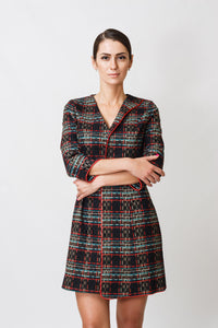 Plaid mini dress jacket