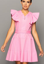 Load image into Gallery viewer, Pink cotton ruffle summer dress