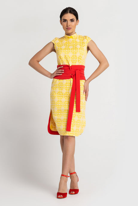 Yellow modern qipao dress