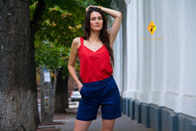 Load image into Gallery viewer, Red cotton tank top women