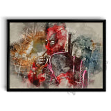 Deadpool Watercolor Art Poster