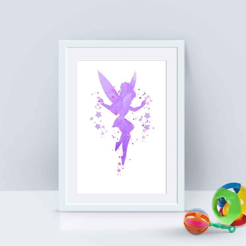 Tinkerbell Print Tinkerbell Watercolor Fairy print Nursery Decor ...