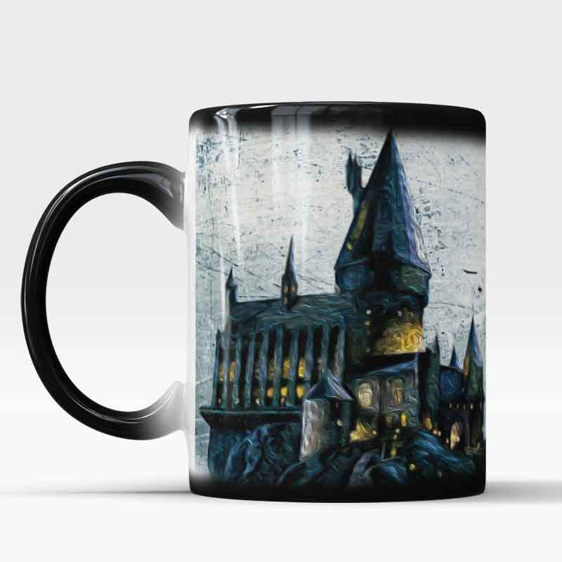 Color Changing morphing cup Hogwarts castle at night