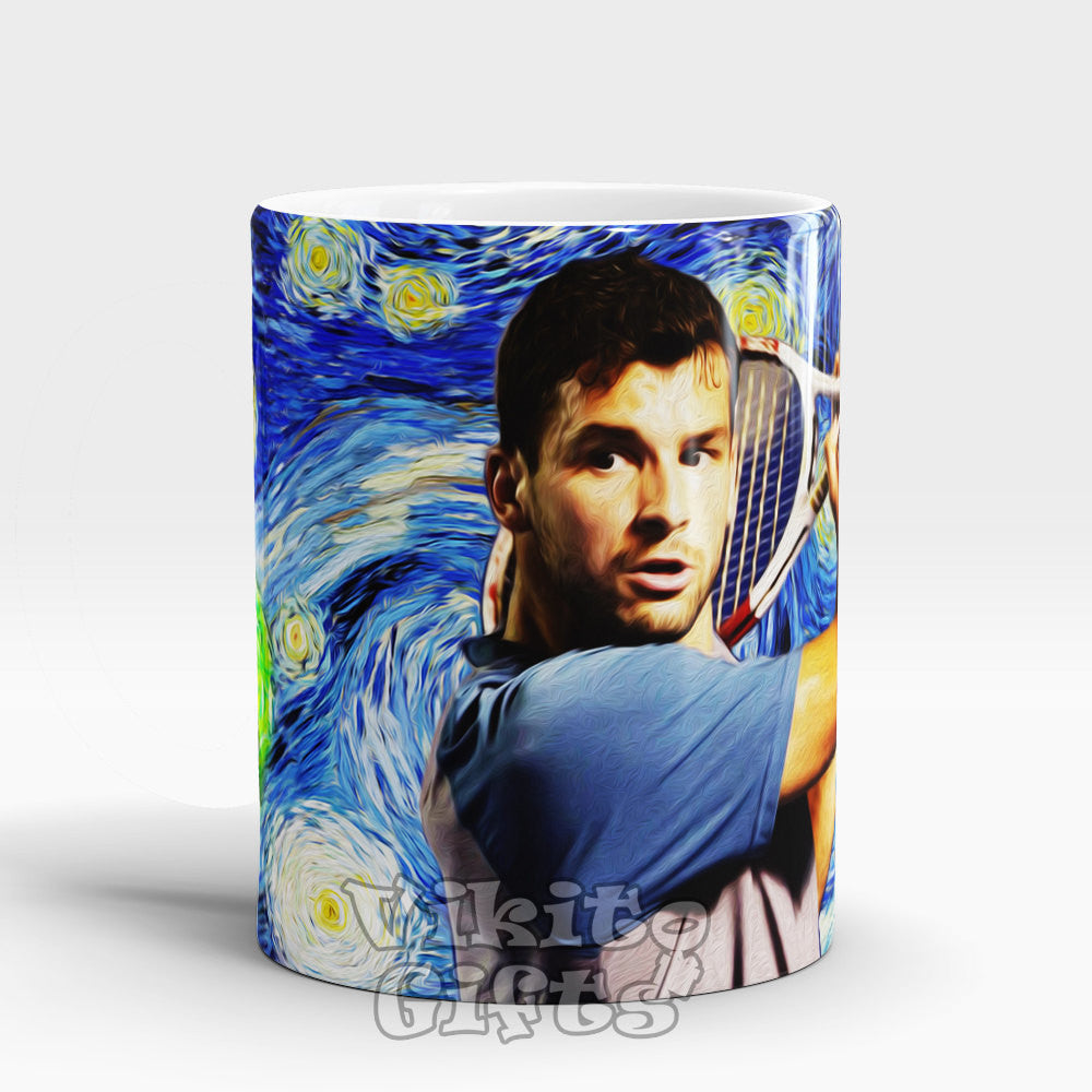 Grigor Dimitrov Art mug Grigor Dimitrov Starry Night Coffee cup