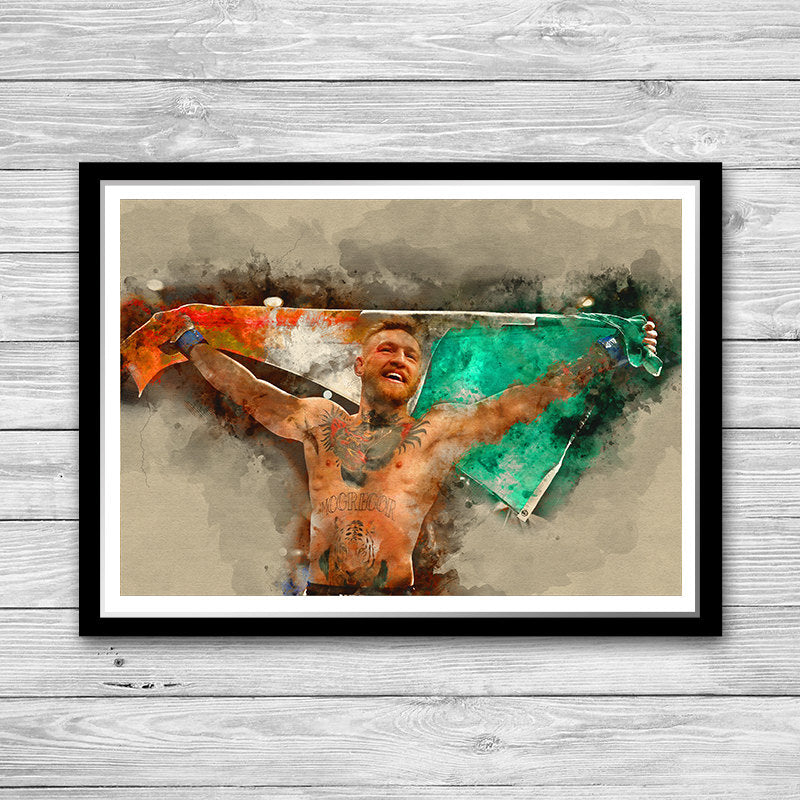 Conor McGregor Painting Poster