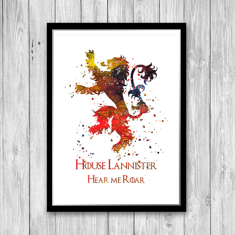 Lannister, House Lannister, Lannister House, Game of Thrones, Game of Thrones Poster, Lannister poster, Lannister sigil, lannister theme