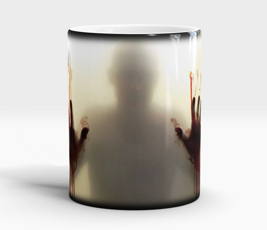 Zombie Walking Dead Color Changing coffee tea ceramic blood mug