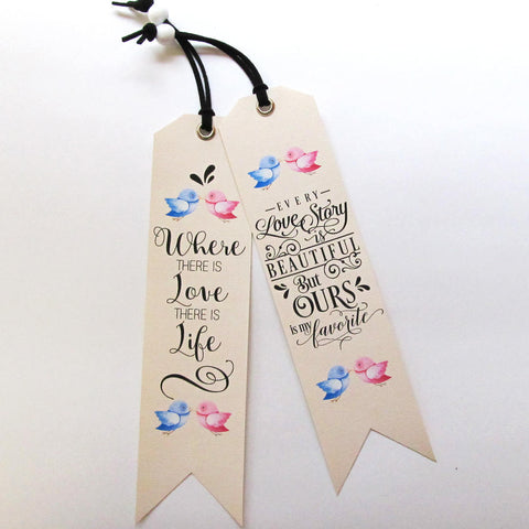 Unique Bookmarks with love quotes