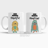 Good Morning Beautiful Good Morning Handsome Mug Couples set Mugs
