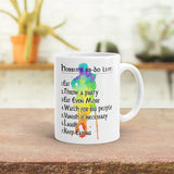Hobbit's to do list mug