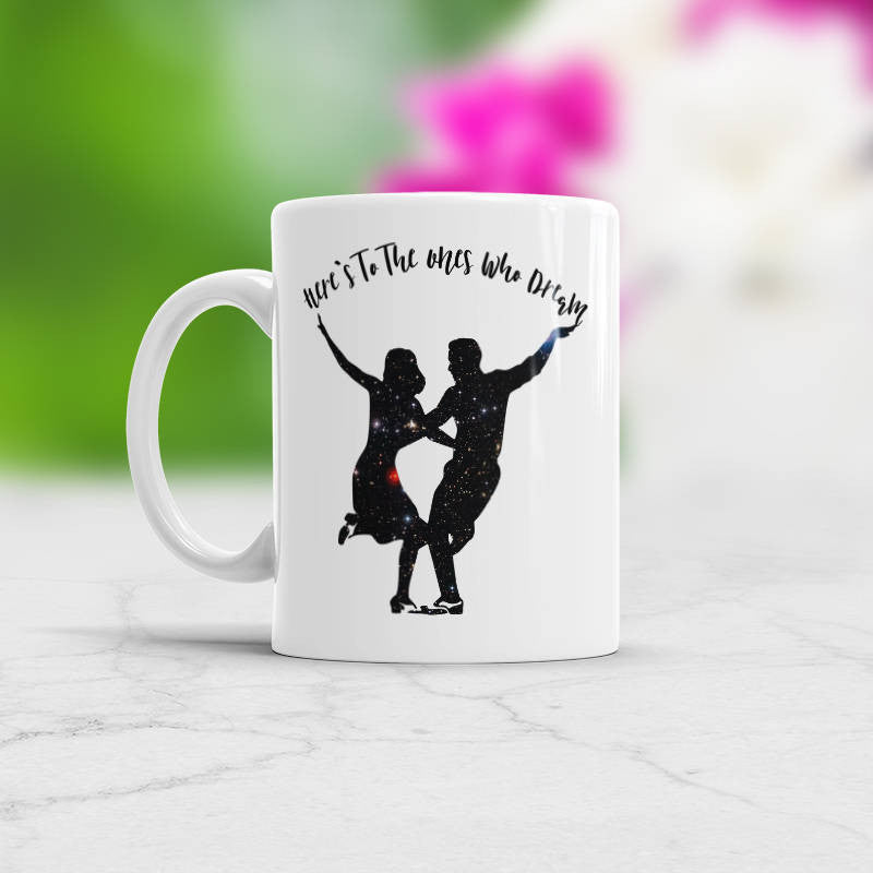 Boyfriend mug with saying Here's to the Ones who Dream Gift for girlfriend gift for boyfriend