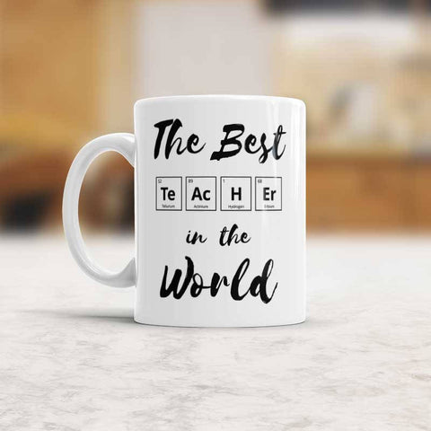 Chemistry Teacher gift The Best teacher in the World Coffee mug