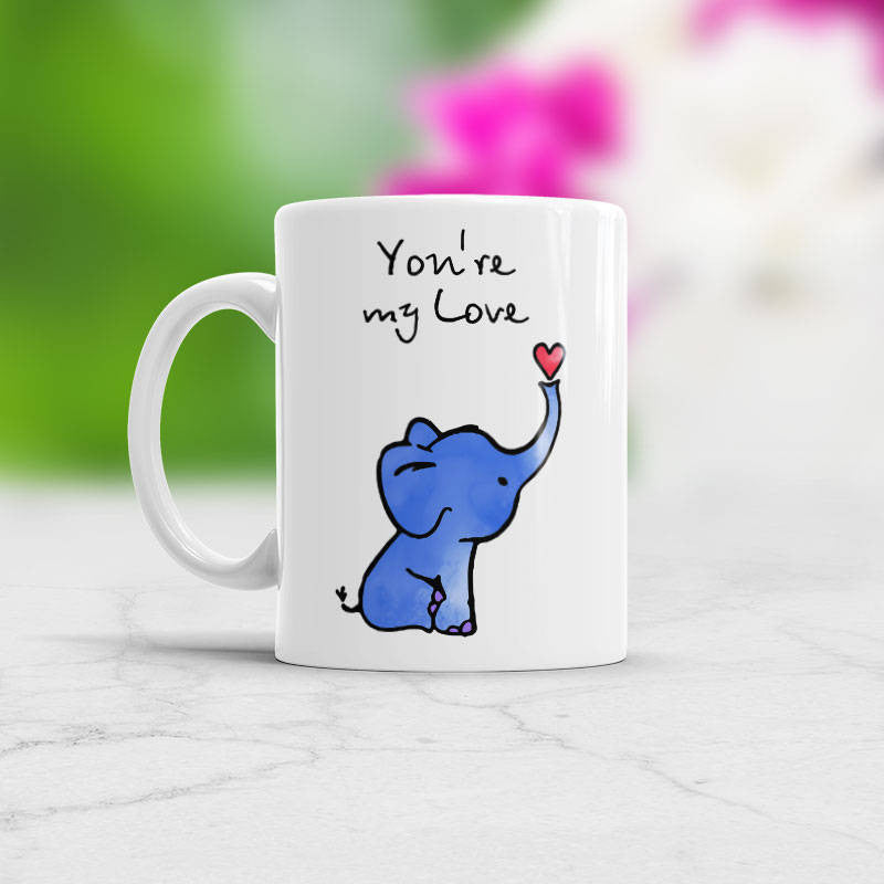 Elephant Mug You're my Love coffee cup