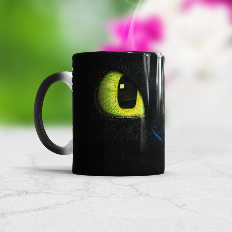 Dragon Mug Color Changin Cup heat sensitive
