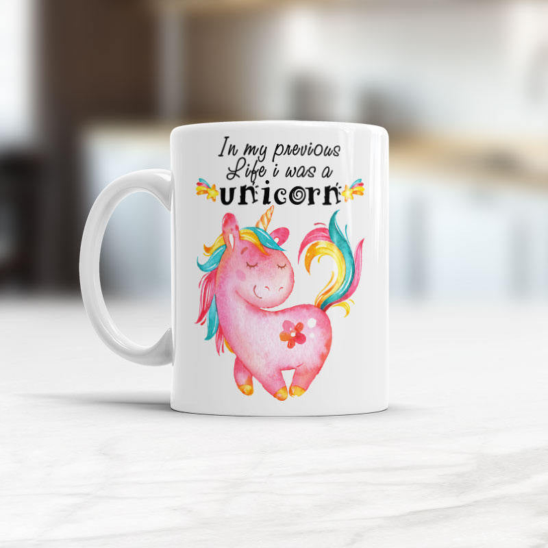 In my previous life i was a unicorn Cute unicorn coffee mug
