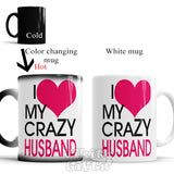 Crazy wife and husband gift Funny Mugs I love my crazy Wife and I love my crazy Husband