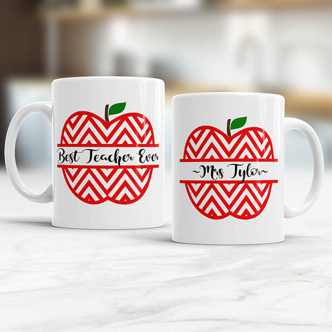 Custom Best Teacher Ever Mug Including Name of Choice Personalized Teacher Gift