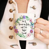 Grown-ass lady mug Funny coffee mug for woman Gift for her