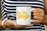 Gift for fisherman Goldfish coffee Mug