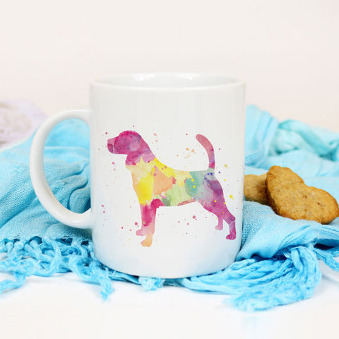 Beagle Mug Watercolor art cup Beagle mom gift