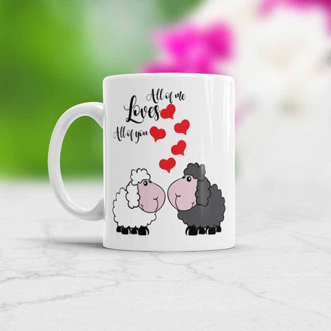 Sheep Mug All of Me Loves All Of You - Valentine's day mug