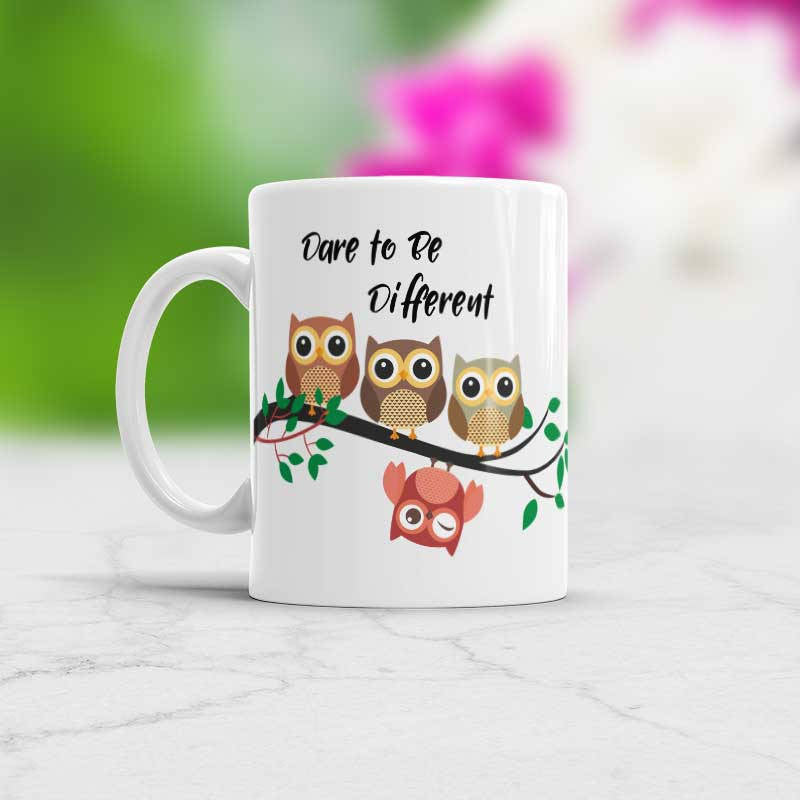 Dare to Be Different Motivational quote Mug