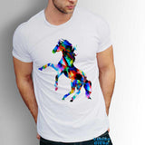 Horse Men's T-shirt Art Graphic Tee Animals printed tshirt