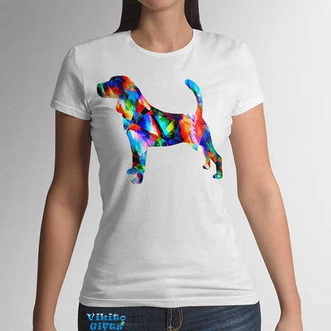 Beagle Womens T-shirt Watercolor Art Tee mom dog gift idea