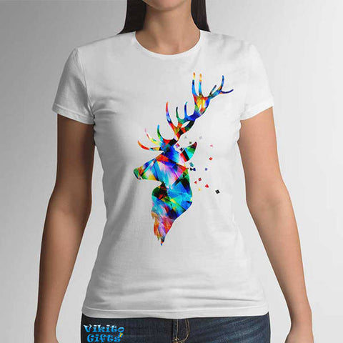 Deer antlers Womens T-shirt New Fashion for her