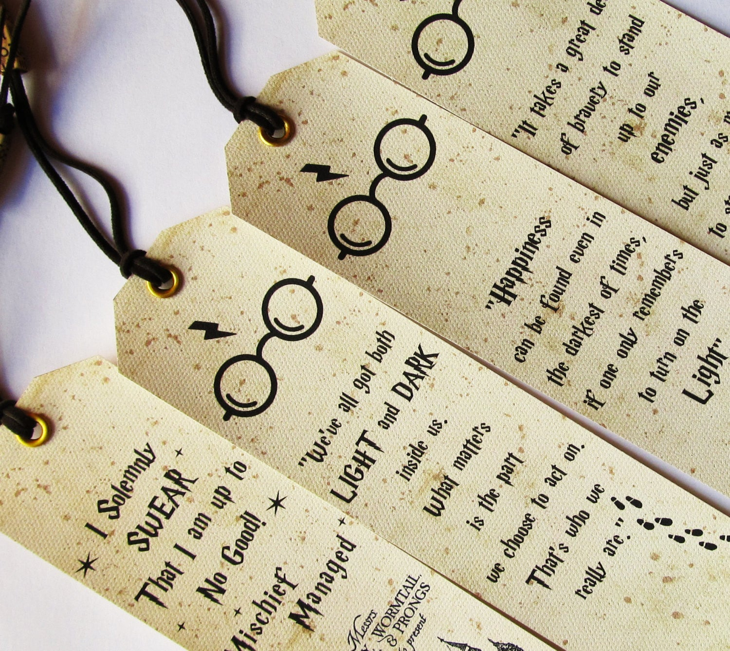 set of 4 pieces handmade bookmarks with quotes – vikitogifts