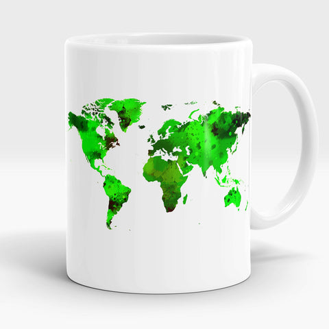 World Map coffee mug