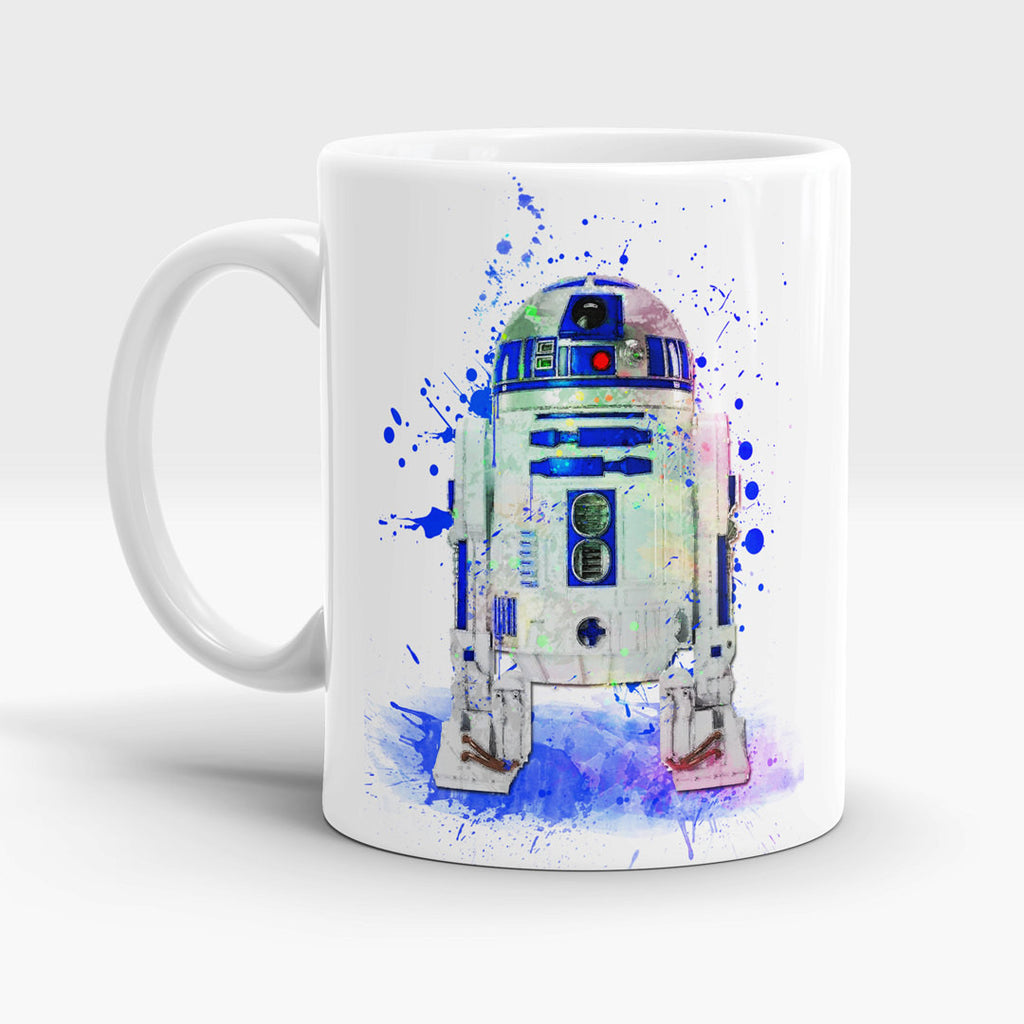 Watercolor Droid R2D2 Art Mug