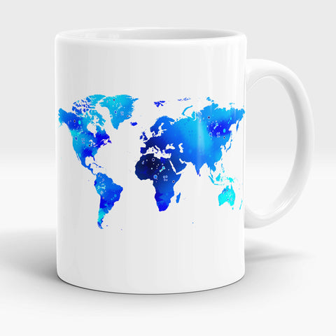 World Map Mug Gift for teacher