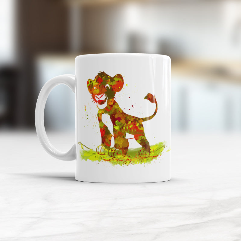 Children's Gift Lion King Watercolor Art Cup Simba Mug