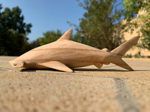 Handmade Hammerhead Shark Wood Carving