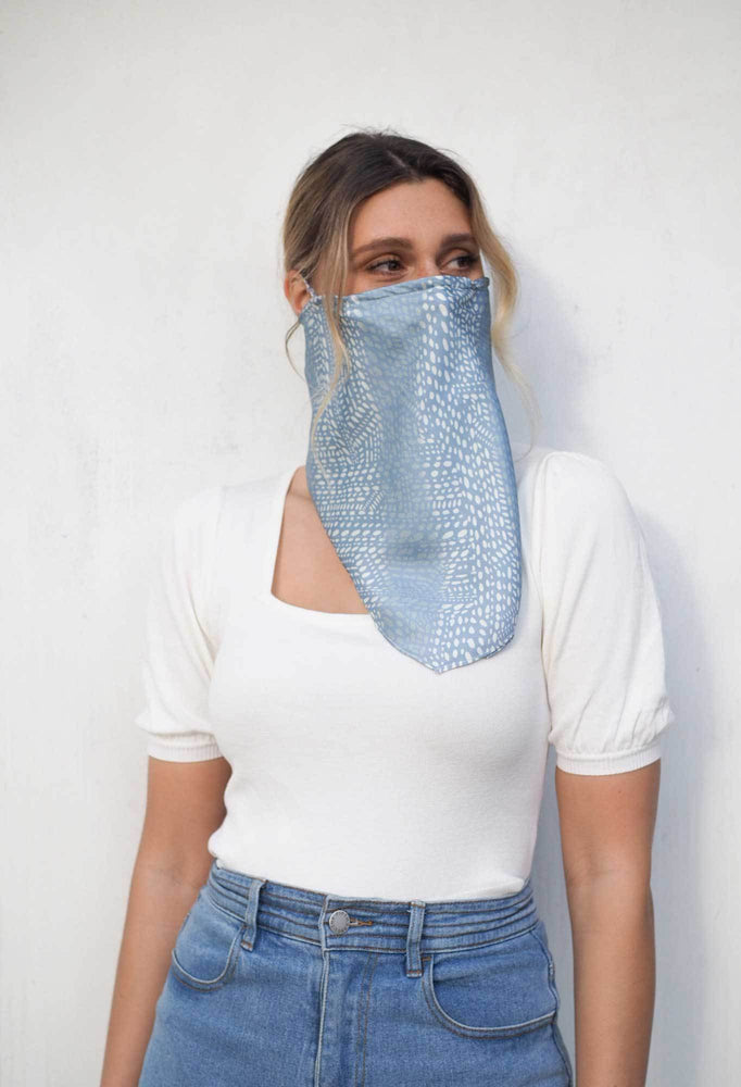 Once Was - Snood Face Covering - Light Blue