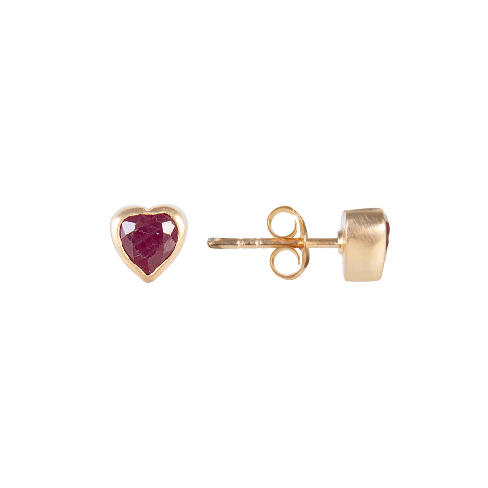 Fairley - Ruby Heart Studs