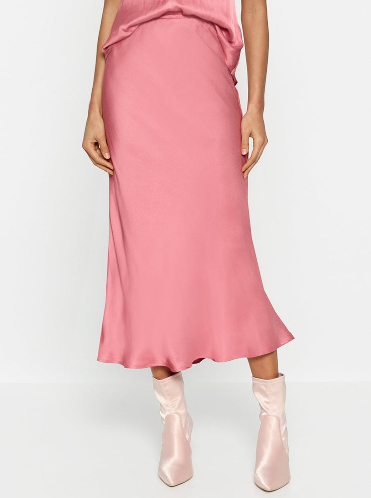 Luxe Deluxe - Look Again Bias Cut Long Midi Skirt - French Rose