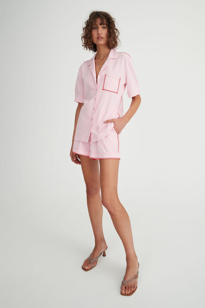 Load image into Gallery viewer, Hansen & Gretel - Cyprus Shirt - Pink/Red