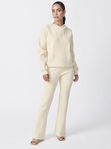Ena Pelly - Flare Knit Pants - Snow